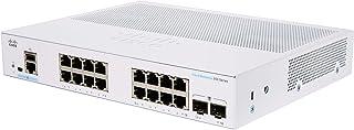 Cisco Systems Business CBS350 16T E 2G Managed Switch | 16 GE Ports | EXT. Netzteil | 2x1G SFP | Begrenzter Lebenszeitschutz (CBS350 16T E 2G)