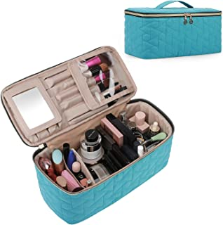 BAGSMART Makeup Bag Cosmetic Bag Large Toiletry Bag Travel Bag Case Organizer for Women, Teal