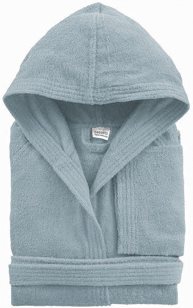 bassetti,accappatoio con cappotto unisex,in spugna cotone 100%