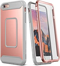 YOUMAKER Case for iPhone 6S, Full Body with Built-in Screen Protector Heavy Duty Protection Shockproof Case Cover for Apple iPhone 6S (2015) / 6 (2014) 4.7 inch - Rose Gold/Gray