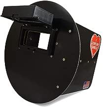 Wendy's Pancake Welding Hood Helmet w/Strap - Right Handed - Black FLIP UP lens
