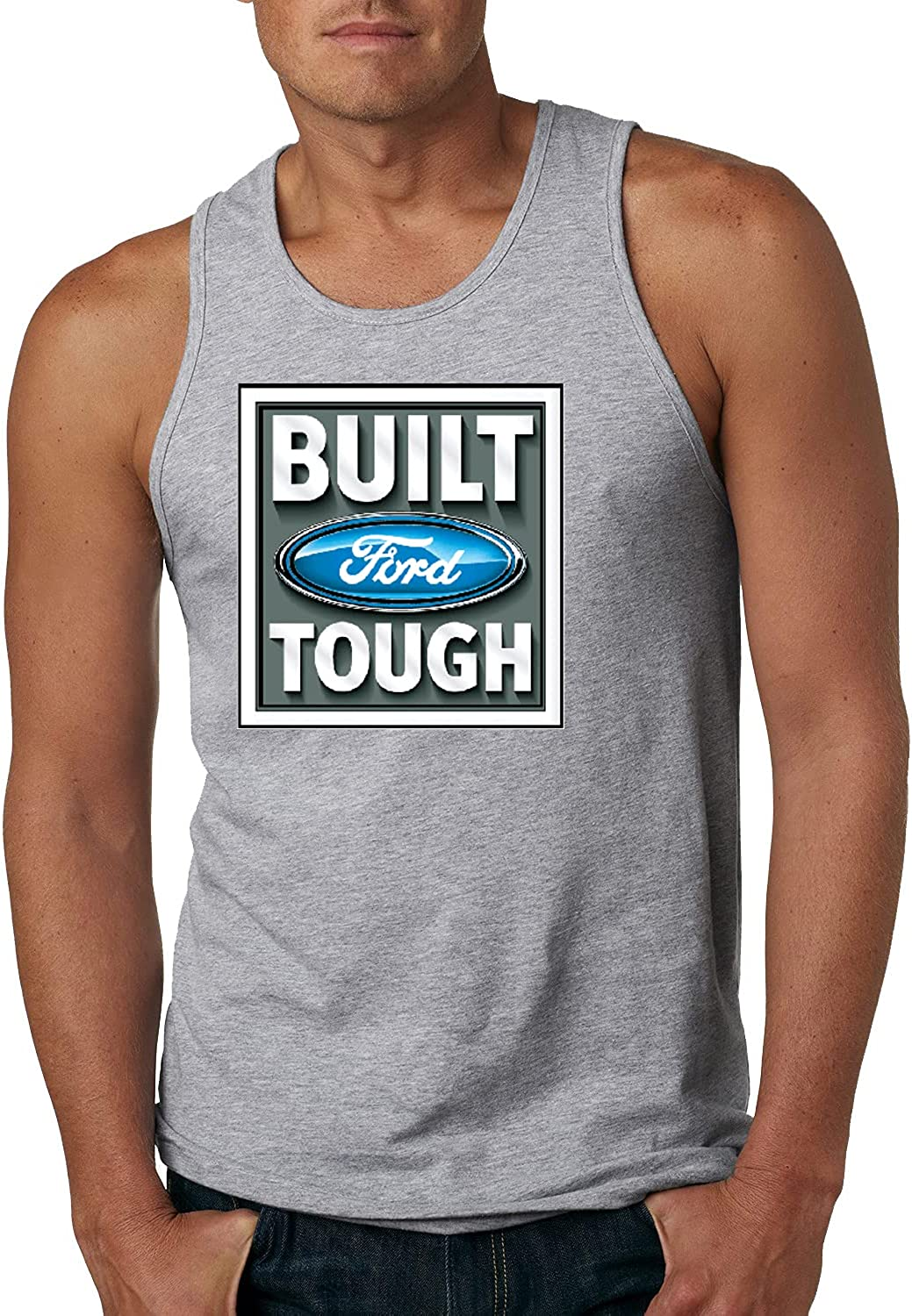 Built Ford Tough Logo Cars and Trucks Mens Graphic Tank Top