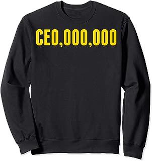 CEO,OOO,OOO Millionaire Funny Entrepreneur Business Sweatshirt