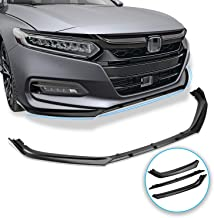 Seven Sparta Front Bumper Lip for Honda Accord 2018-2019, 3 Pieces ABS Front Bumper Spoiler Splitter, Matte Black