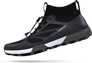 کفش دوچرخه کوهستان مردانه SANDUGO MTB ، 2 پیچ مناسب همه پدال های SPD ، سبک و راحت ، سیاه 7