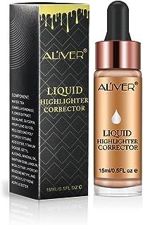 Face Glow Liquid Highlighter, Aliver Contour Make Up Glitter Brighten Shimmer 3D Highlighters Waterproof