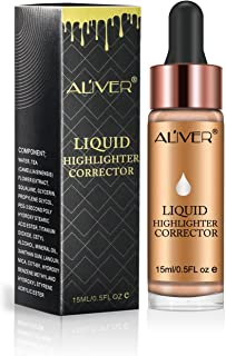 Aliver Glow Liquid Highlighter Contouring, Brighten Shimmer 3D Highlighters Ultra-concentrated Illuminating Bronzing Drops - 6 Colors Available (#5 SUNLIGHT)