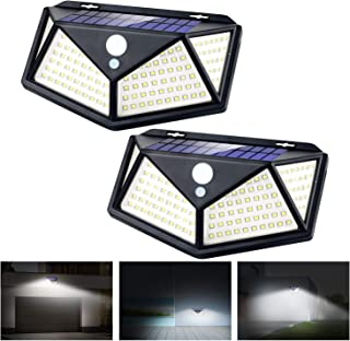 Apsung Solar Lights Outdoor,114 LED [3 Working Mode 1200mAh 120° Wide-Angle Sensor] Motion Sensor Outdoor Light,IP65 Water...