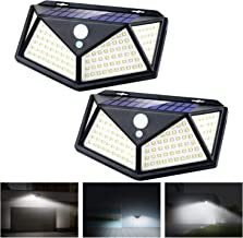 Apsung Solar Lights Outdoor,114 LED [3 Working Mode 1200mAh 120° Wide-Angle sensor] Solar Motion Sensor Lights,IP65 Waterp...