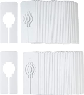 Juvale 60-Pack White Blank Rectangle Hanger Dividers for Clothing Racks, Home, and Closet, 5 x 2 Inches