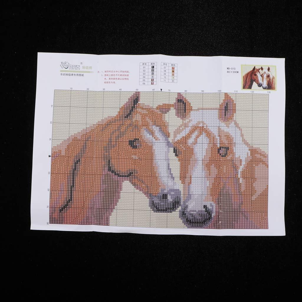 Principiantes Sharplace Kit de Alfombras de Punto de Cruz Coj/ín de Ganchos de Cierre para Ni/ños Animales