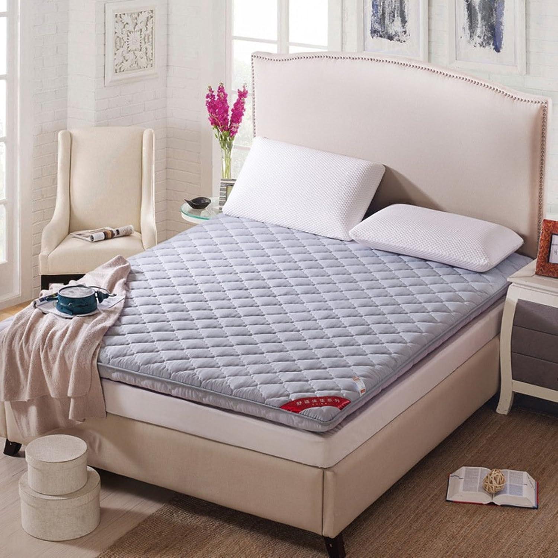 Non-Slip Tatami Floor mat, Portable Sleeping pad Quilted futon Mattress Topper Foldable Cushion mats Dorm Bed Predection pad-B 180x200cm(71x79inch)