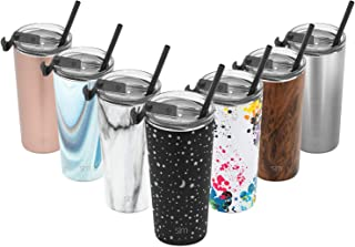 Simple Modern 20oz Classic Tumbler Travel Mug with Clear Flip Lid & Straw - Coffee Vacuum Insulated Gift for Men and Women Beer Pint Cup - 18/8 Stainless Steel Water Bottle Engraved: Lunar