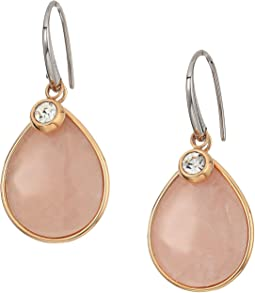 Fossil - Vintage Quartz Teardrop Earrings with Clear Crystal