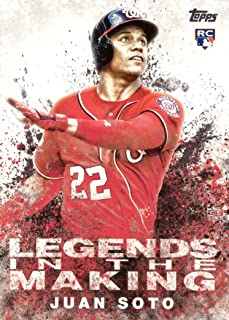 2018 Topps Update Legends in the Making Baseball #LITM-8 Juan Soto Rookie Card