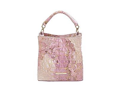 Brahmin Melbourne Mini Amelia Crossbody (Lilac) Handbags