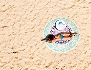 Round Beach Towel Blanket Mandala Roundie Throw Picnic Tapestry with Tassels Hippy Boho Gypsy Large Microfiber Yoga Mat Soft Water Absorbent Tablecloth