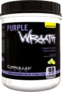 Purple Wraath by Controlled Labs, BCAA and EAA Amino Acid Supplement, Endurance Blend Intra Workout Powder, Optimal Endura...