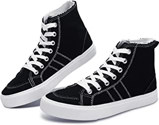 Womens High Top Linen Shoes Play Mid Fashion Sneaker...
