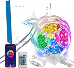 Homeyard UL Listed Waterproof Led Strip Lights 32.8 Ft Work with Alexa WiFi App Remote Control RGB 5050 Color Change Music...