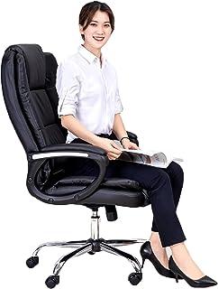 Silla Escritorio Sillas de escritorio con ruedas Silla de escritorio para computadora de oficina Oficina en casa Respaldo ergonómico con respaldo alto Asiento ejecutivo con ruedas Ergonómica Silla D