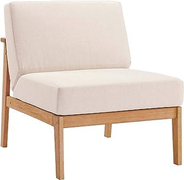 Modway EEI-3681-NAT-TAU Sedona, Armless Chair, Natural Taupe
