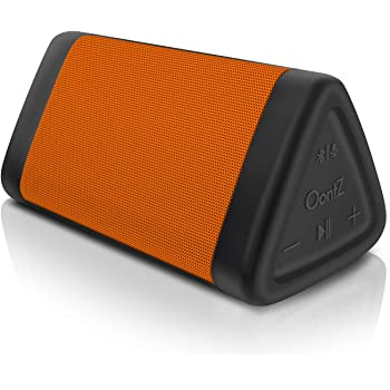OontZ Angle 3 (4th Gen) - Bluetooth Portable Speaker, Crystal Clear Stereo Sound, Rich Bass, 100 Ft Wireless Range, Play Two Speakers Together (4th Gen only), Mic, IPX5, Parent (Orange)