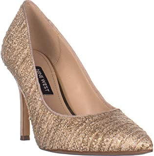 NINE WEST Flax7 Pointed Toe Stiletto Pumps, Natural Multi Fabric