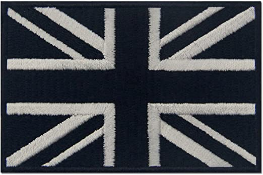 Union Jack Flag Star Military White Iron Sew on Embroidered Patch #1844