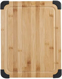 Sabatier Nonslip Bamboo Cutting Board, 11x14-Inch, Brown