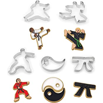 Fox Run Brands Karate Cookie cutters, 7 x 7 x 1.25 inches, Metallic