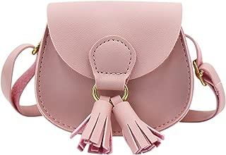 JUMISEE Kids Girls Toddler Mini Shoulder Purse Crossbody Bag with Tassel