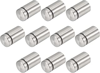 uxcell 10 Pcs Silver Tone Stainless Steel 19 x 30mm Standoff Hardware for Glass
