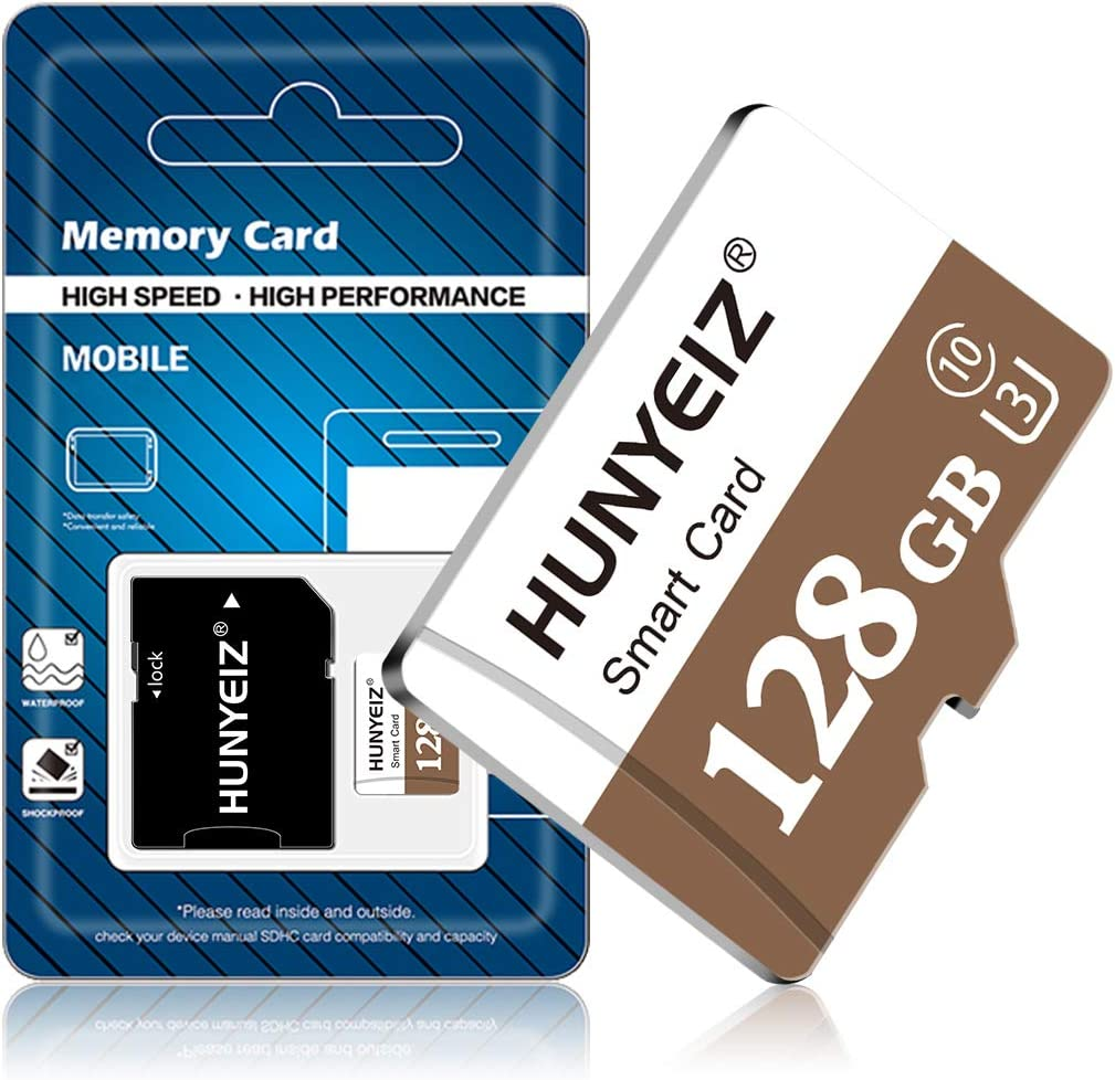 128GB Micro SD Card High Speed Micro SD Card Class 10 Memory Card for Phone, Tablet and PCs with Adapter