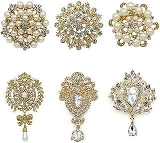Crystal Rhinestones Flower Brooches For Wedding Invitation/Cake Decoration/Diy Bouquet
