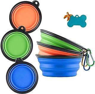 کاسه سگ سیلیکون قابل جمع شدن MXZONE 3 ، ظرف قابل حمل با قابلیت قابل حمل با غذای کوچک برای حیوانات اهلی حیوان خانگی ، غذای قابل حمل غذای قابل حمل