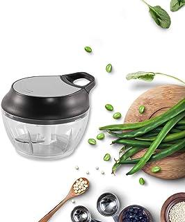ZOIC Food Vegetable Fruit Chopper Manual Food Processor Slicer Mincer Mixer Dicer Hand Held Pull String (520ML)