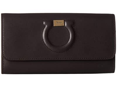 Salvatore Ferragamo City Wallet On Chain (Flannel (Gray)) Handbags