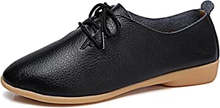 VenusCelia Women's Sung Oxford Flats Shoe(9 M US,Black)