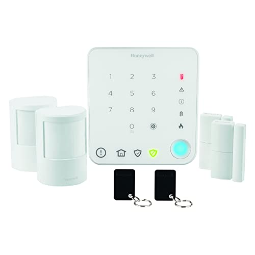 Honeywell Home HS330S Pack alarme sans fil pour appartement avec commande intelligente Smart Security, Blanc