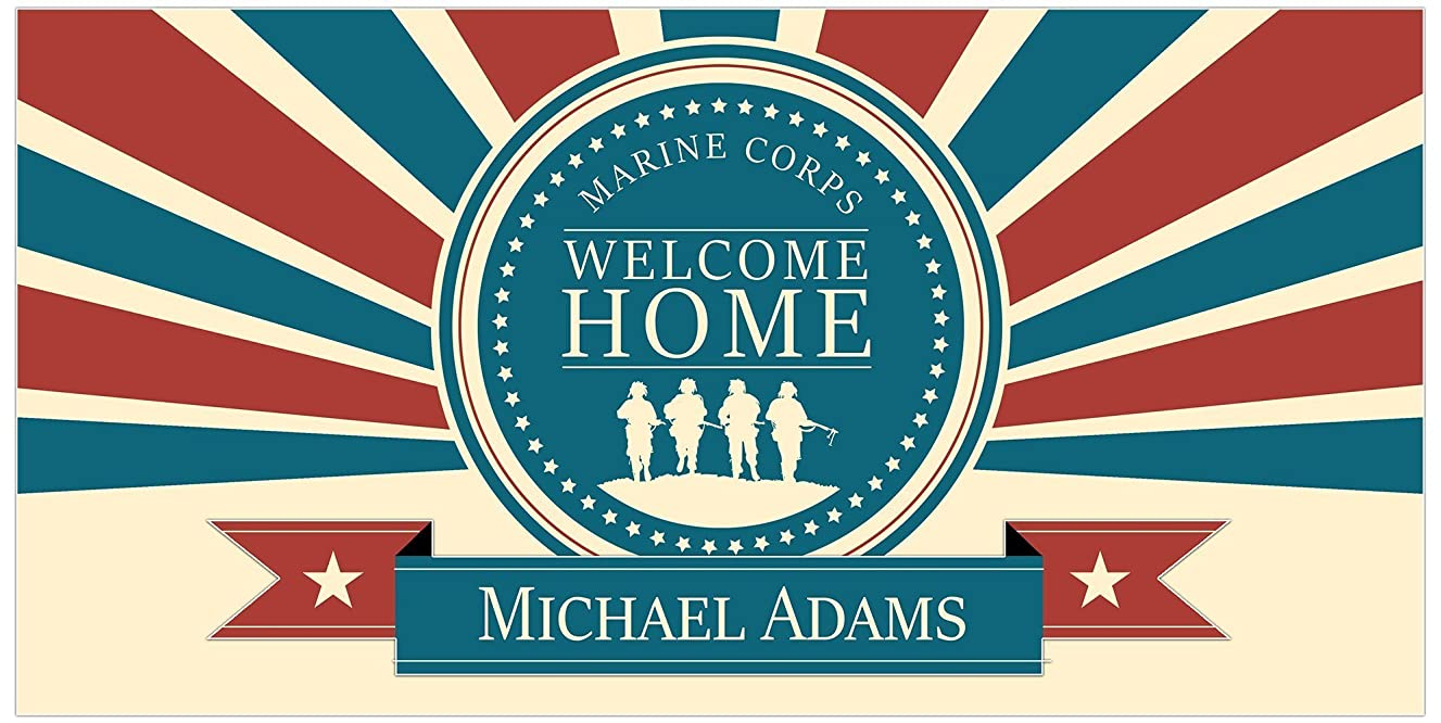 Personalized Welcome Home Marine Corps Military Banner Party Decoration Backdrop