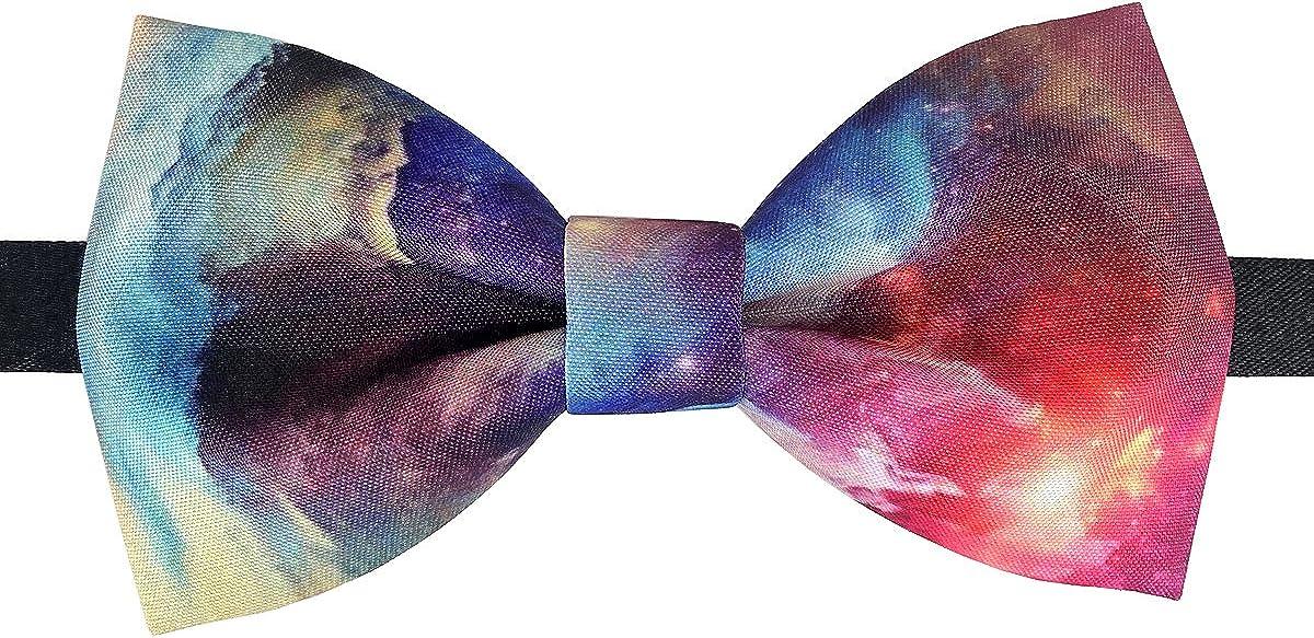 100% Satin Silk Mens Pre-tied Bowtie Solid Bow Ties-Starry Sky Series
