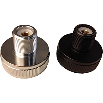 SO-239 Anteenna TW-NMO to UHF Female One is White Adaptor Connector Another one is Black Color Adaptor Connector Mobile Antenna Adaptor 2 Packs