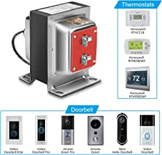 FCHO 24V 40VA Thermostat and Doorbell Transformer, Power Supply Compatible with Honeywell Thermostat, Nest Hello Doorbell and All Versions of Ring Doorbell