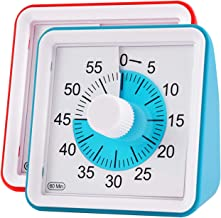 Visual Timer, Supkiir 60 minute Countdown Clock, Time Management Tool for Meeting Cooking Teaching Classroom Games for Teachers, Silent Analog Timer with Alert for Kids with Autism Adhd