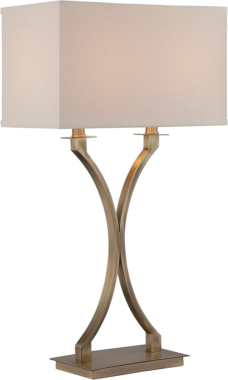 Lite Source LS-22615 Cruzito Table Lamp, 29  x 9  x 16 , Antique Brass Off-White