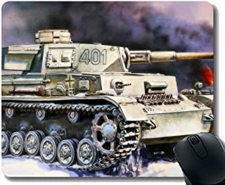 Gaming Mouse Pad Custom, Panzer IV Mouse Pad con Borde Cosido
