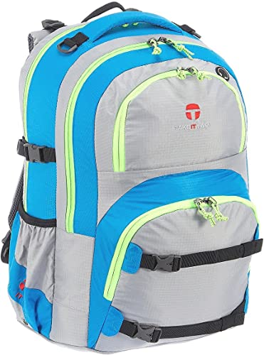 Take it Easy Actionbags Oslo Flex Schulrucksack 45 cm light nylon silber türkis