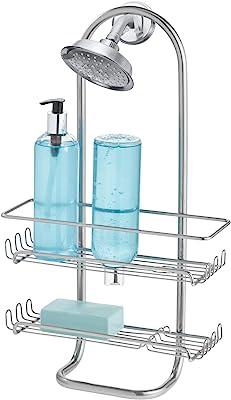 InterDesign シャワーラック 風呂 バスルーム 2段 ジャンボサイズ Classico シルバー 60266EJ