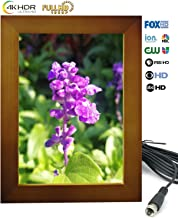 """HD Digital TV Antenna,HDTV Indoor Antenna with Amplified Signal Booster 80+ Mile Range with 13ft Coaxial Cable for 4K HDTV and Local TV Channels- 7""""Photo Frame Design"""